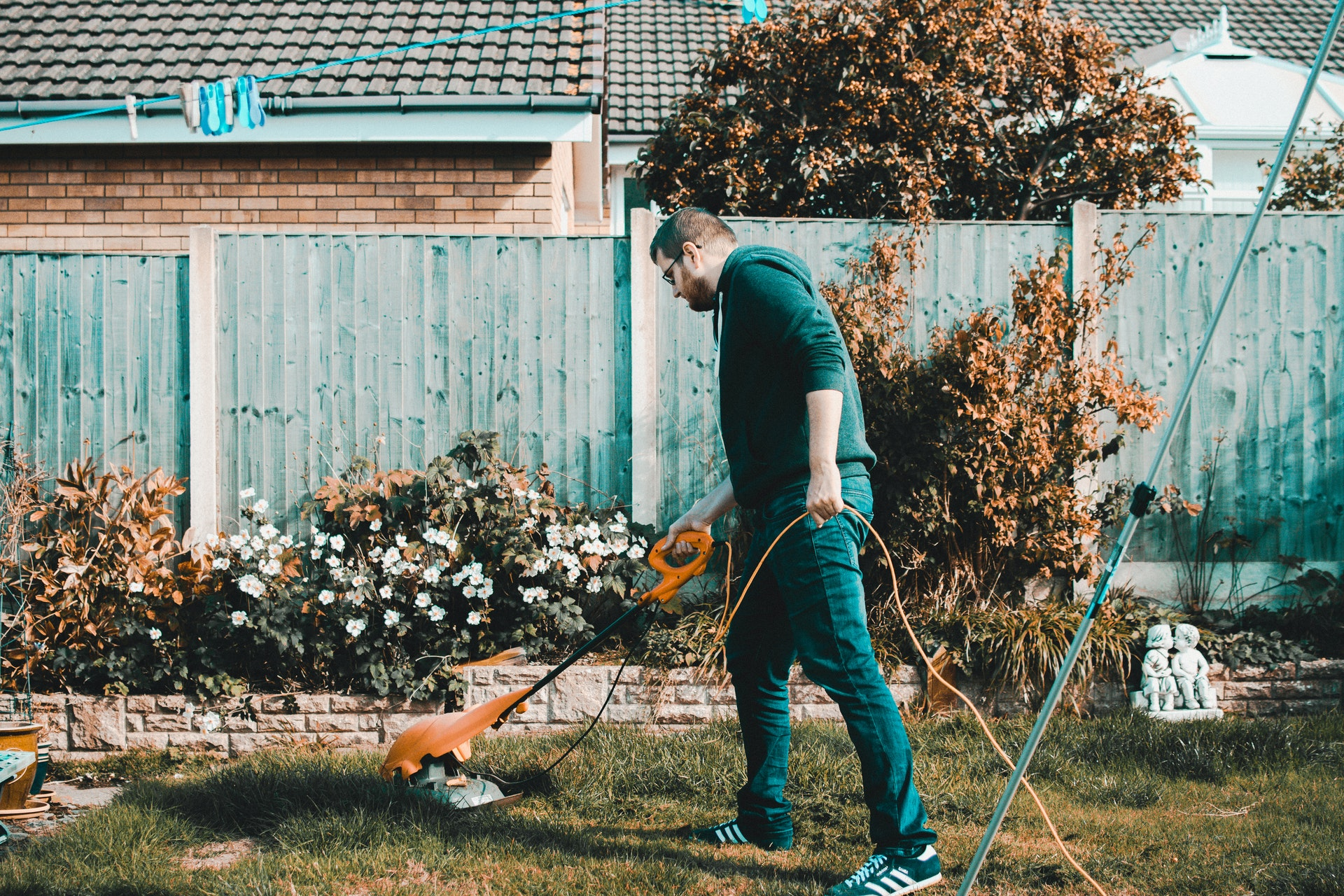 Man doing the gardening